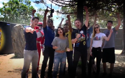 Power Rangers Cast play iCOMBAT Laser Tag with Chris Hardwick!