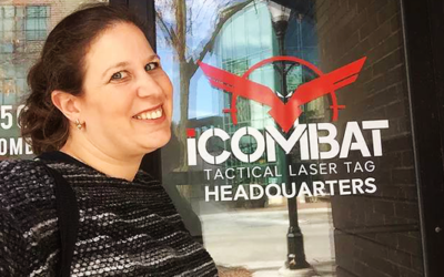 Touring iCOMBAT With Laser Tag Blogger Tivia